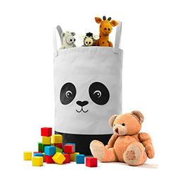 Fawn Hill Co Panda Laundry Hamper for Nursery or Kids Room -