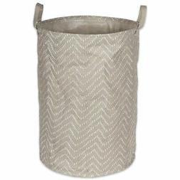 DII Pe Coated Woven Paper Laundry Hamper Tribal Chevron Ston