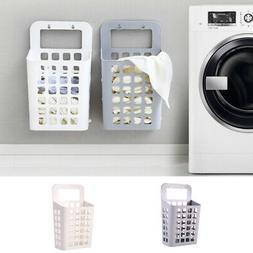 Plastic Laundry Hamper Basket Bin Wash Clothes Holder Rack S