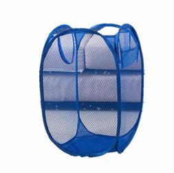 pop up foldable laundry basket mesh hamper