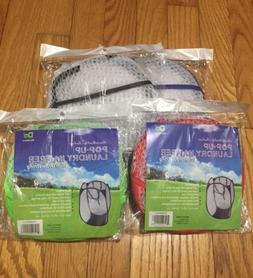 Pop Up Laundry Collapsible Travel Clothes Hampers w Handles
