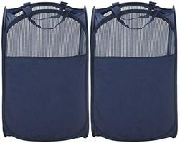 STORAGE MANIAC Pop-Up Mesh Clothes Hamper, Foldable Laundry