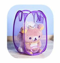 Portable Small Mesh Laundry Hamper Foldable Nursery