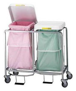 R&B WIRE PRODUCTS INC. 684W Laundry Hamper Cart,2 Comp,Wht,7