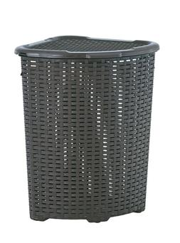 Rattan  Corner Laundry Hamper 1.47 Bushel / 52 Liter