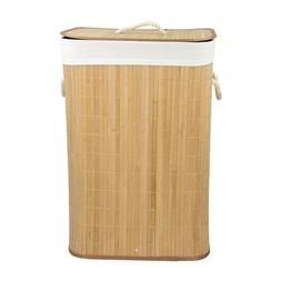 Rectangular Bamboo Hamper, Natural