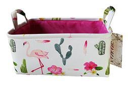 Rectangular Fabric Storage Bin Toy Box Baby Laundry Basket w
