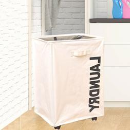 Rolling Laundry Cart Hamper Dirty Clothes Basket Sorter Orga