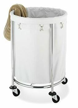 Whitmor Round Commercial Laundry Hamper with Removable Liner