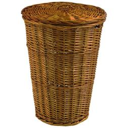 Redmon Round Willow Hamper with Matching Lid - Honey, Honey