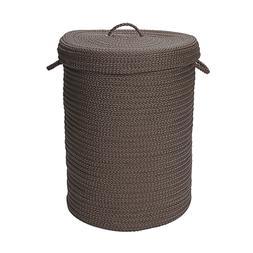 Simply Home Solid Gray 18x18x30  hamper w/ lid