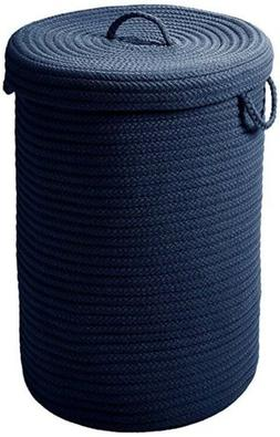 Colonial Mills Simply Home Solid Navy Blue 18x18x30 Hamper W