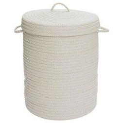 Simply Home Solid White 18x18x30 hamper w/ lid