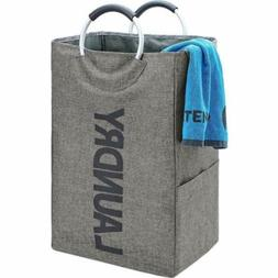 HOMEST Single Laundry Hamper with Handle, Self-Standing Mode