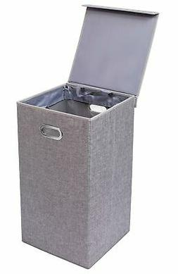 BirdRock Home Single Laundry Hamper with Lid and Removable L