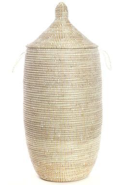 Slender Laurel Hamper Basket from Senegal Fair Trade Handmad