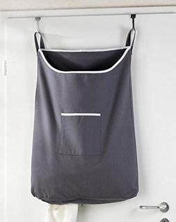Space Saving Hanging Laundry Hamper Bag with Free Door Hooks