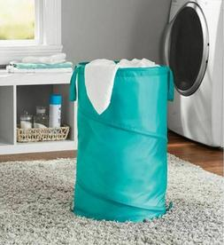 Mainstays Spiral Pop-up  Laundry Hamper 15x15x25 Inches Gree