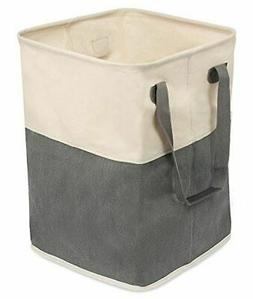 BIRDROCK HOME Square Cloth Laundry Hamper with Handles - Dir