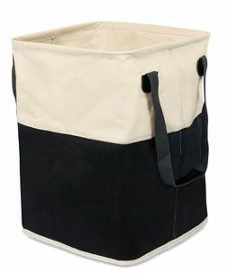 Birdrock Home Square Cloth Laundry Hamper With Handles | Dir