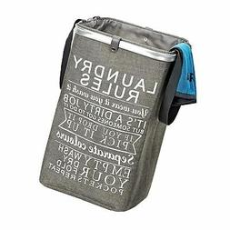 HOMEST Square Laundry Hamper with Handle Foldable Dirty Clot