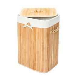 square storage laundry hamper bamboo clothes basket