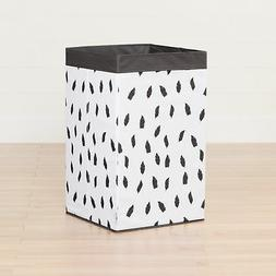 South Shore Storit Feather Print Laundry Hamper in White and