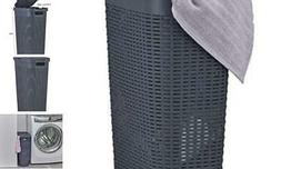 Superio Narrow Laundry Hamper 40 Liter With Easy Lid, Slim a