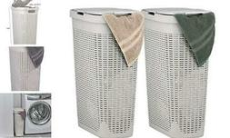 Superio Slim Laundry Hamper Beige 40 Liter  Durable Plastic