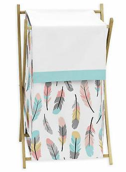 Sweet Jojo Clothes Laundry Hamper For Grey Turquoise Coral F