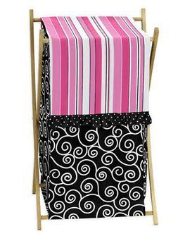 Sweet Jojo Kids Baby Clothes Laundry Hamper for Pink Black M