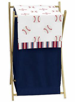 Sweet Jojo Red White Blue Baby Kid Clothes Laundry Hamper fo