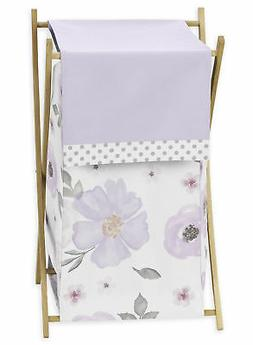Watercolor Floral Girl Baby Kid Clothes Laundry Hamper Laven