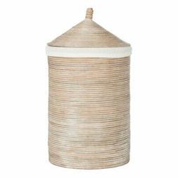 Safavieh Wellington Rattan Storage Hamper with Liner