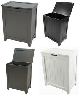 Wooden Hamper Laundry Storage Bin Clothes Basket Bathroom Or